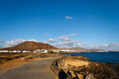 playa Ισπανία papagayo BLANCA Lanzarote παραλιών Στοκ φωτογραφία με δικαίωμα ελεύθερης χρήσης