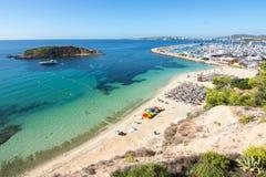 Playa παραλιών Nous πυλών και ναυτικό, Μαγιόρκα, Ισπανία Στοκ Εικόνες