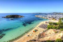 Playa παραλιών Nous πυλών και ναυτικό, Μαγιόρκα, Ισπανία Στοκ φωτογραφίες με δικαίωμα ελεύθερης χρήσης