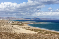 Playa巴尔卡角,费埃特文图拉岛 库存照片