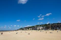 Playa 1 de Trouville fotos de archivo