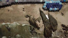 Playa aérea de Saen de la explosión en Chonburi, Tailandia almacen de metraje de vídeo