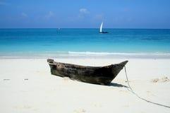 Playa abandonada Imágenes de archivo libres de regalías