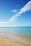 Playa abandonada Fotografía de archivo libre de regalías