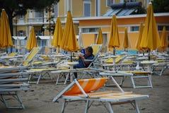 Playa abandonada de Grado Imagen de archivo libre de regalías