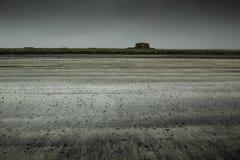 Playa abandonada en el ártico Imagenes de archivo