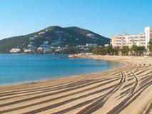 Playa abandonada Ibiza Fotografía de archivo libre de regalías