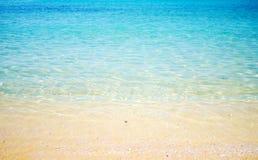 Playa abierta transparente Imágenes de archivo libres de regalías