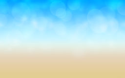 Playa abstracta ilustración del vector
