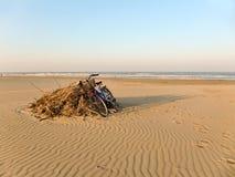 Playa adriática en invierno Imagen de archivo libre de regalías