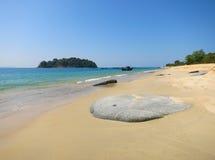 Playa agradable en Birmania imagen de archivo