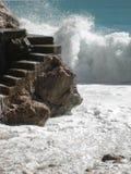 Playa agradable y x28; d& x27 del cÃ'te; Azur& x29; imágenes de archivo libres de regalías