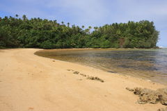 Playa aislada Imágenes de archivo libres de regalías
