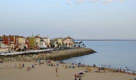 Playa al lado de Sherry Port fotografía de archivo