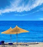 Playa Albania de la mañana del verano Foto de archivo libre de regalías