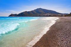 Playa Albir Alicante de la playa de Blanc del casquillo de Altea fotografía de archivo
