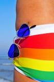 Playa alegre Fotografía de archivo libre de regalías