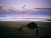 Playa Almejal, El瓦尔, BahÃa索拉诺, Chocà ³,哥伦比亚 免版税库存照片