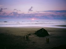 Playa Almejal, EL Valle, BahÃa Solano, Chocà ³, Κολομβία Στοκ φωτογραφίες με δικαίωμα ελεύθερης χρήσης
