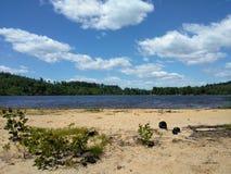 Playa ancha del barón del cielo azul fotografía de archivo libre de regalías