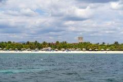 Playa Ancon blisko Trinidad fotografia royalty free