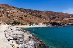 Playa Andros de Plaka Fotografía de archivo libre de regalías
