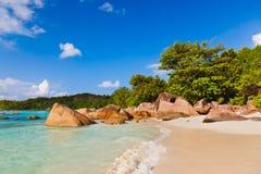 Playa Anse Lazio - Seychelles Imágenes de archivo libres de regalías