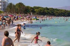 Playa apretada Fotos de archivo libres de regalías