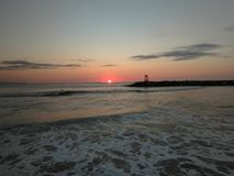 Playa Aquadillia Puerto Rico 2018 de Rompeolas Fotos de archivo