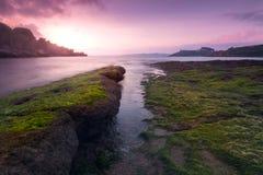 Playa Aramar, Antromero. Aramar Beach in Antromero, Luanco Asturias Spain Royalty Free Stock Photos