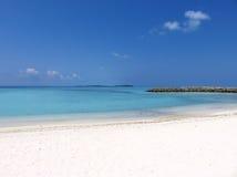 Playa, arena y mar Imágenes de archivo libres de regalías