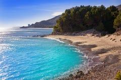 Playa Arenal en Hospitalet del Infant image stock