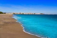 Playa Arenal en Hospitalet del Infant photographie stock