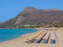 Playa arenosa de Falasarna, Creta, Grecia Fotografía de archivo libre de regalías