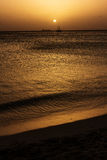 Playa Aruba atardecer Obrazy Royalty Free