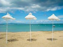 Playa asoleada, Bali Foto de archivo libre de regalías