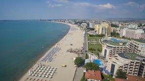 Playa asoleada, Bulgaria imagenes de archivo
