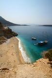 Playa asoleada en Turquía Fotos de archivo