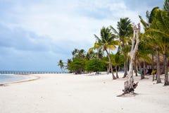 Playa asombrosa en tiempo nublado en Cabeza de Toro, Punta Cana Imagenes de archivo