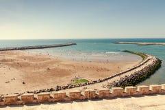 Playa atlántica en Rabat Fotos de archivo libres de regalías