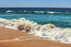 Playa atlántica, Portugal Imagen de archivo libre de regalías