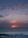 Playa Australia occidental del cable en la puesta del sol Fotos de archivo libres de regalías