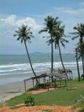 Playa azotada por el viento Fotos de archivo