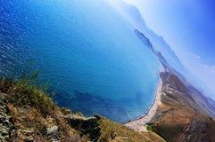 Playa azul del mar Imagenes de archivo