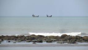 Playa Bangladesh del mar de Cox's Bazar Imagen de archivo libre de regalías