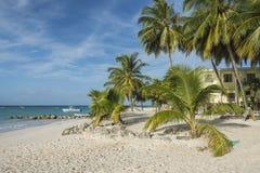Playa Barbados de Worthing Foto de archivo