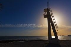 Playa Benissero Muntanyar van Javeaxabia in Alicante Stock Foto