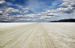 Playa of the Black Rock Desert under a stormy sky east of Gerlac Stock Photo