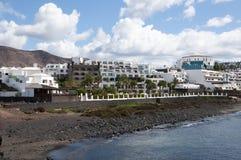 Playa Blanca横向 库存照片