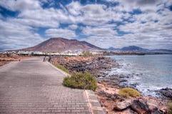 Playa Blanca. Landscape on Lanzarote Island Royalty Free Stock Images